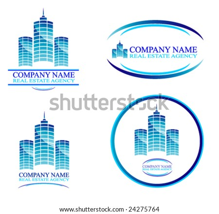VECTOR Real Estate and Construction Business Background with design elements