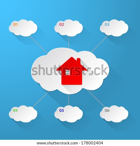 Vector Real Estate icon background - stock vector