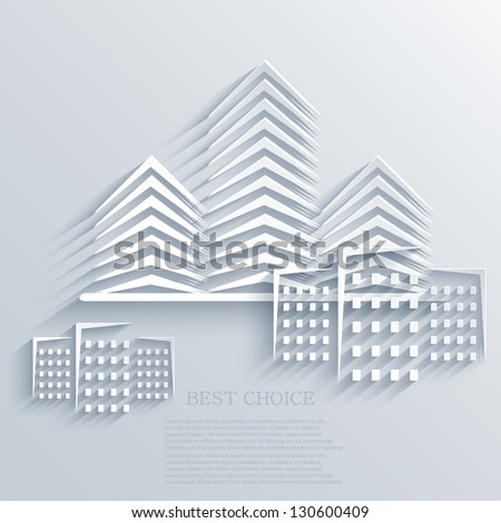Vector real estate icon background. Eps10
