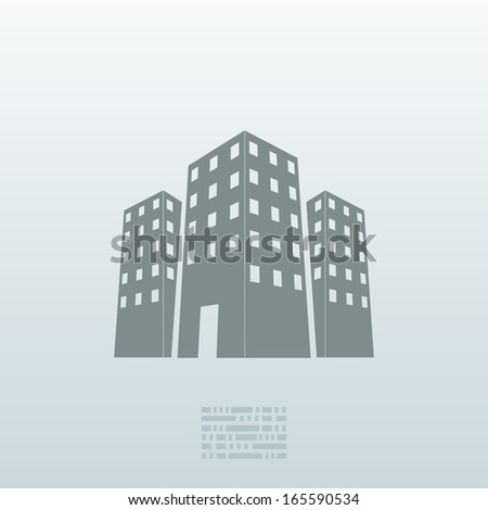 Vector real estate icon background. Eps10 - stock vector