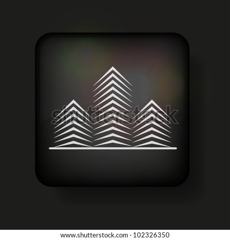 Vector real estate icon on black. Eps 10 - stock vector