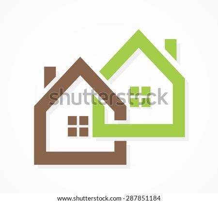 Vector real estate logo - stock vector
