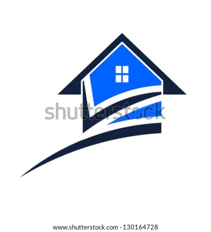 Vector Real Estate swoosh - stock vector