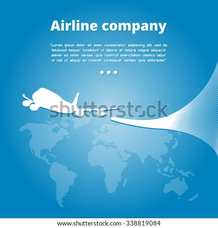 Vector realistic airplanes, whirlwinds, infographics elements and world map. Can be used for travel agencies, aviation companies. Airline banner - stock vector