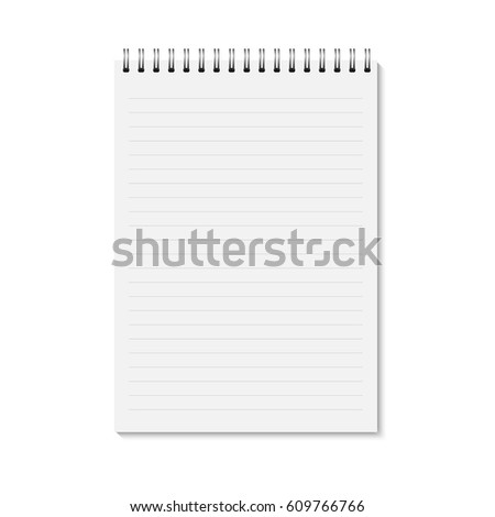 Vector Realistic Closed Notebook Vertical Blank Vector – Vertical Lined Paper