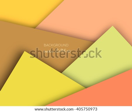 Vector Realistic Colored Paper Objects Cardboard Applique Cards Illustration Background Decoration Infographics