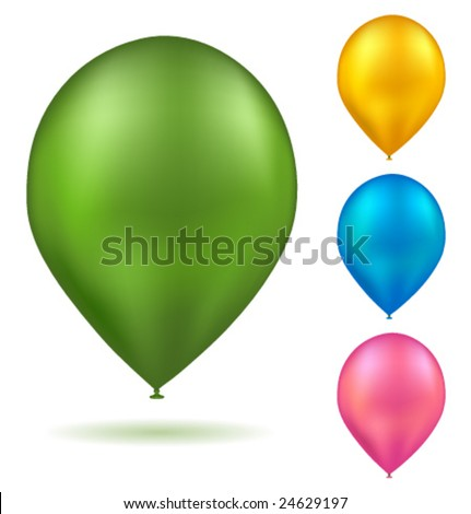 Vector realistic colorful balloons - stock vector