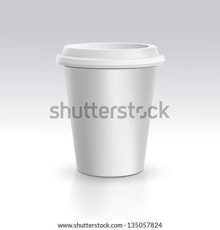 Vector Realistic Cup - stock vector