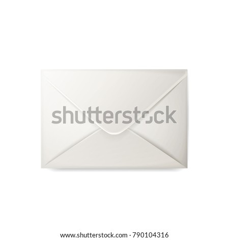 Vector realistic 3 d envelope empty white stock vector 790104316 vector realistic 3d envelope empty white post letter cover business post mail office stopboris Image collections