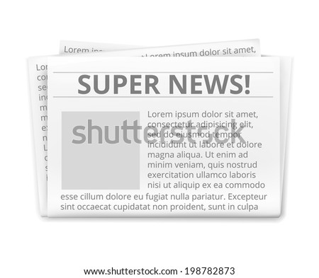 Vector Realistic Daily Newspaper Isolated