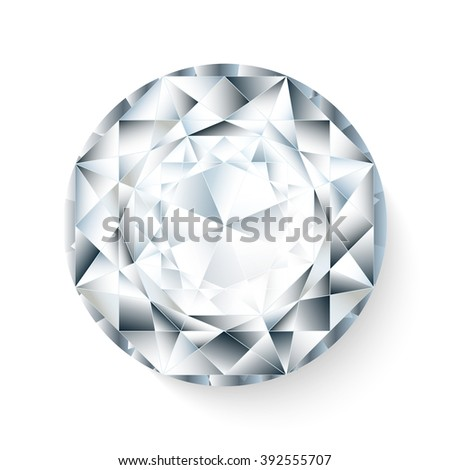 vector realistic  diamond isolated on white background