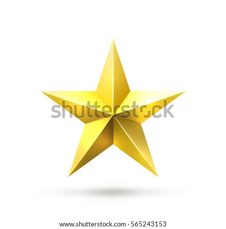 Vector Realistic Gold Star Isolated On Stock Vector 2018 565243153