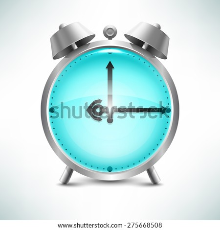 Vector realistic image of an alarm clock in a nautical theme. - stock vector