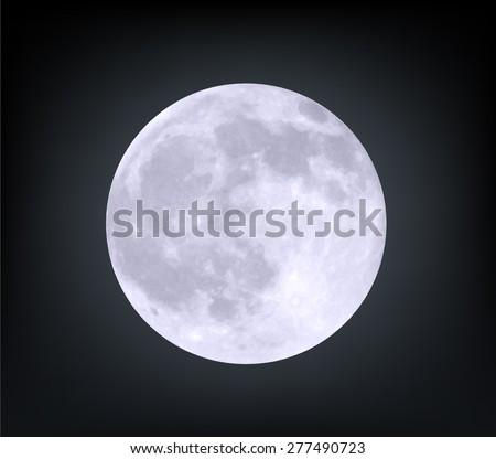 Vector realistic moon.