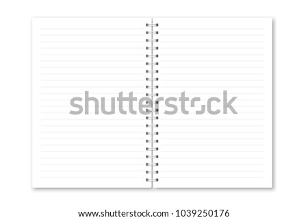 Vector Realistic Opened Notebook Vertical White Stock Vector HD ...