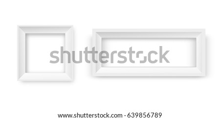vector realistic paper white frames on the transparent background for decoration and corporate identity design - White Picture Frames