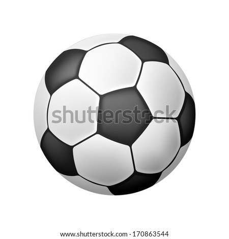 Vector Realistic Soccer Ball over white - stock vector