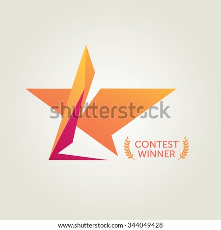 stock-vector-vector-recognition-star-logo-344049428 Teamwork Recognition Letter Template on powerpoint slide, certificate street award, sales powerpoint, calabration powerpoint, productivity free powerpoint presentation, process ppt, free background design,