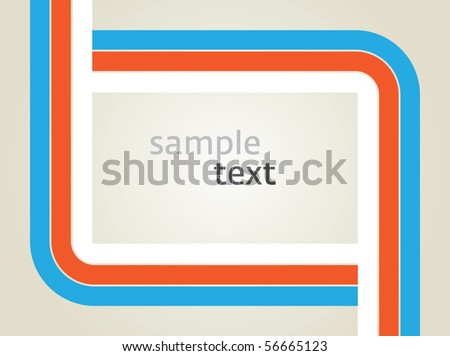 Vector rectangle for text, three color line as frame