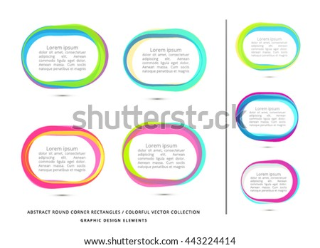 VECTOR, RECTANGLE WITH ROUND CORNERS , ABSTRACT FRAMES - stock vector