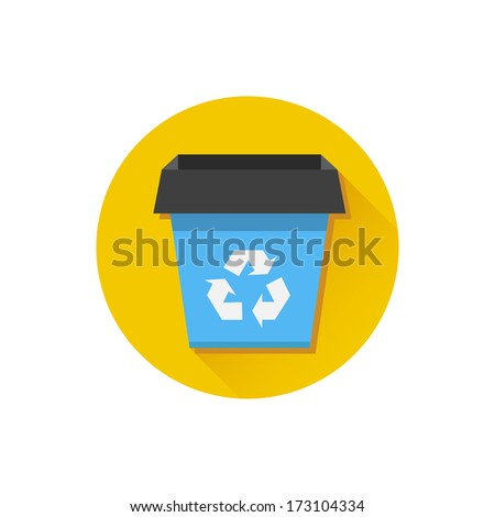 Vector Recycle Bin Icon