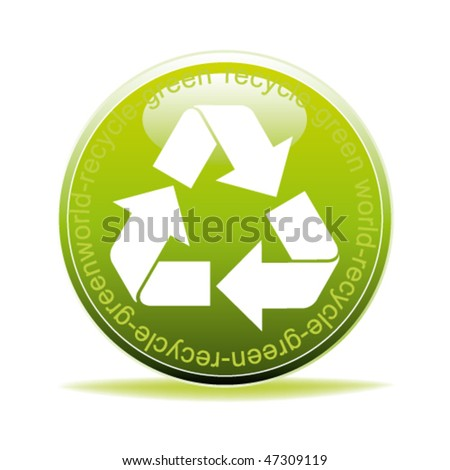 vector recycle icon or button