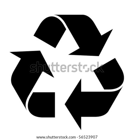 vector recycle symbol - stock vector