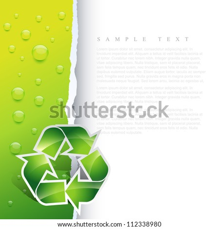 vector recycle symbol design illustration - stock vector