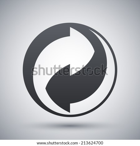 Vector recycling sign - stock vector