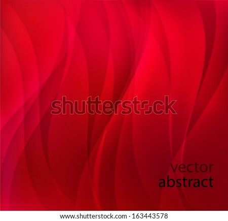 vector red abstract background with waves - stock vector