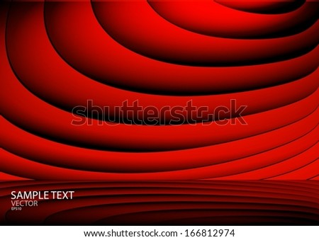 Vector red background web design template - Vector web site background illustration