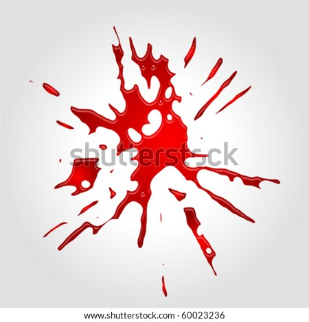 Vector red blot - stock vector
