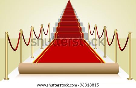 Vector red carpet - stock vector