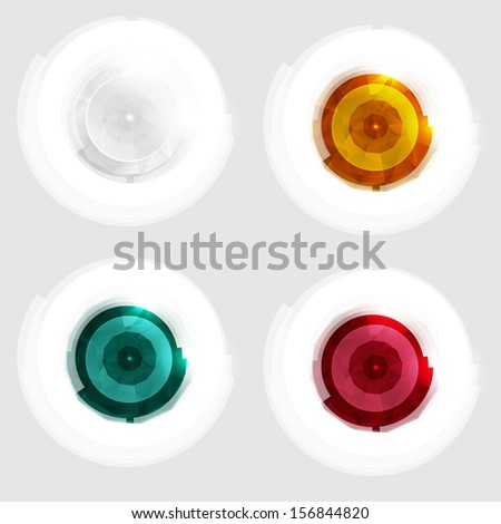 Vector red circle. Abstract background for design