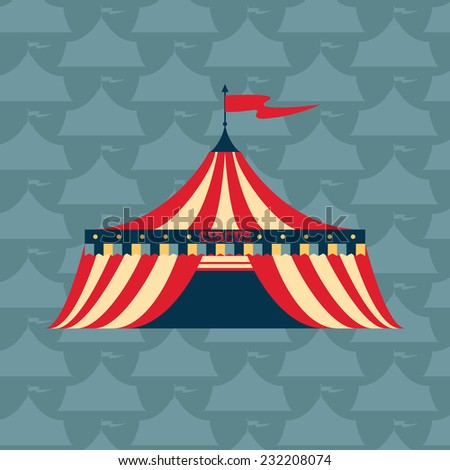Vector red circus tent illustration