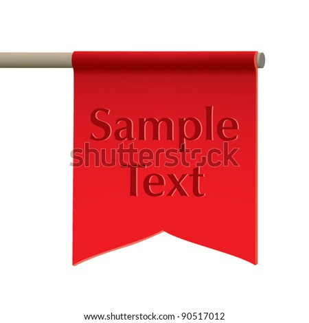 Vector Red Flag - stock vector