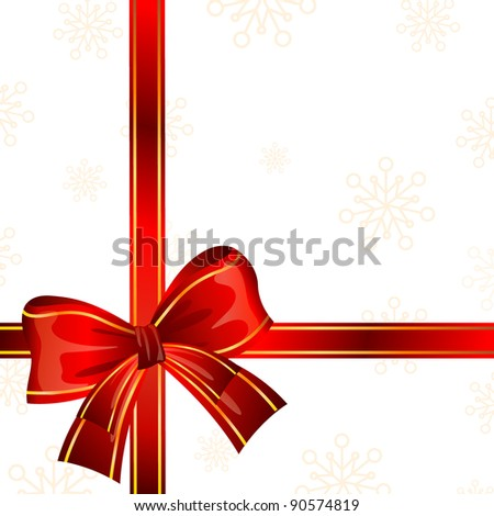 Vector red gift ribbon