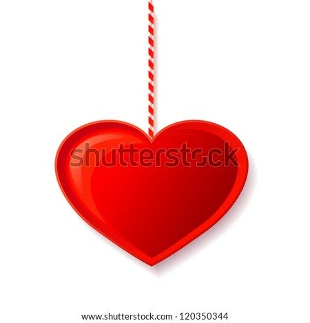Vector  red heart candy - stock vector