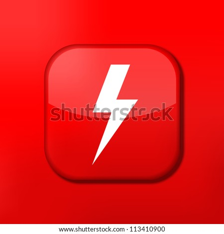 Vector red  lightning icon. Eps10. Easy to edit - stock vector