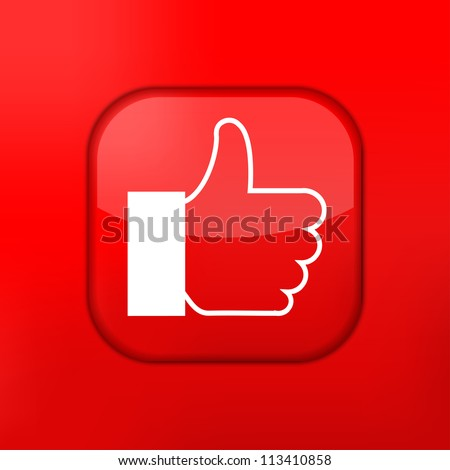 Vector red like icon. Eps10. Easy to edit - stock vector