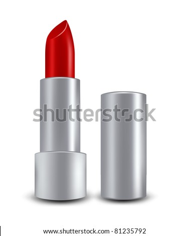 vector red lipstick