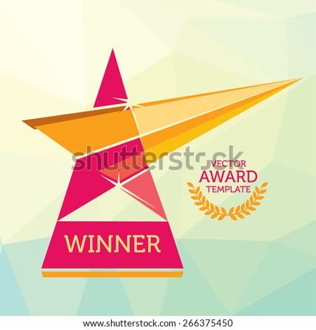 Vector Red Nomination Award Logo Template - stock vector