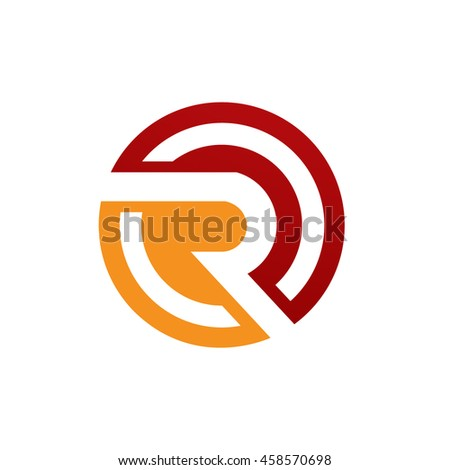 Red Circle With R Logo Stock Photos, R...
