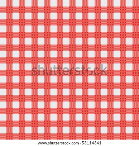 vector red picnic cloth - stock vector