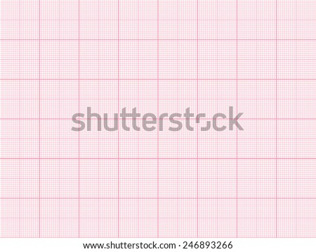 Vector Red Plotting Graph Paper Background Stock Vector