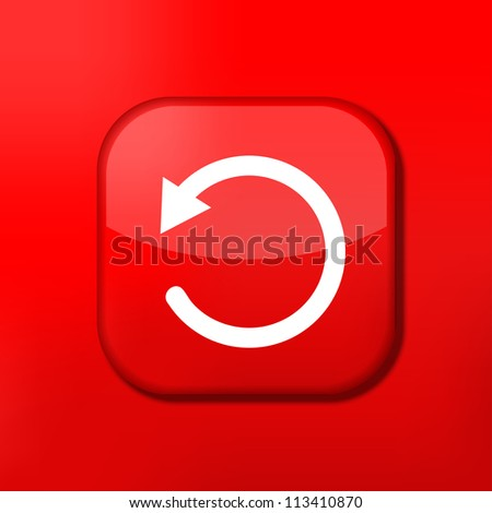 Vector red repeat icon. Eps10. Easy to edit - stock vector