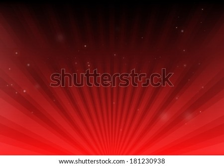 Vector red space blast and glitters background  template - Abstract red space background design illustration - stock vector