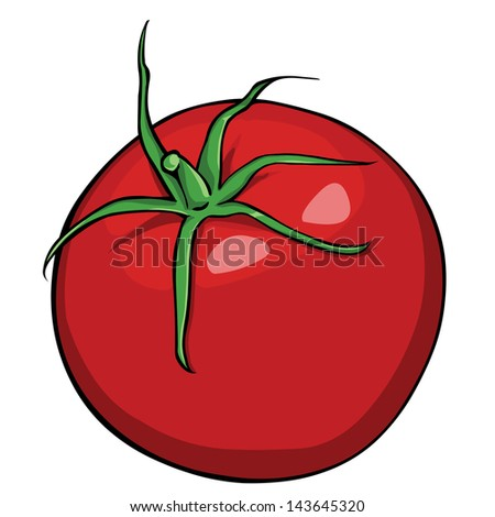 vector red tomato - stock vector