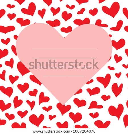 Vector red Valentine s Day Card