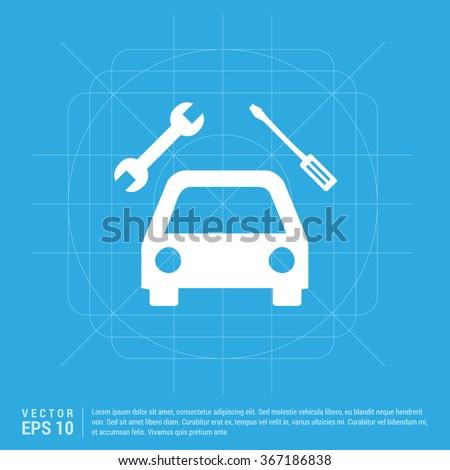 Vector Repair Car icon - stock vector
